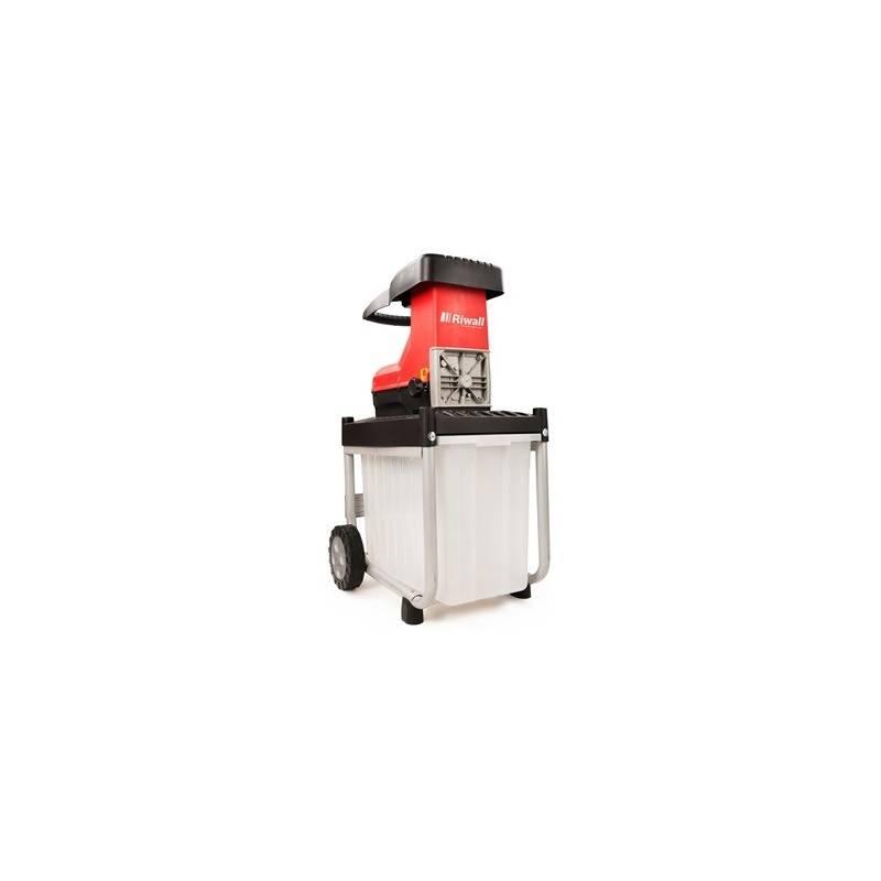 Drvič zahradného odpadu Riwall RES 2540 B čierny/červený + Doprava zadarmo