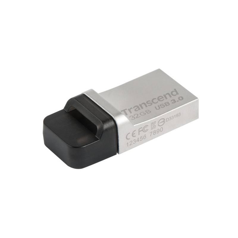 USB flash disk Transcend JetFlash 880 32GB OTG (TS32GJF880S) kovový