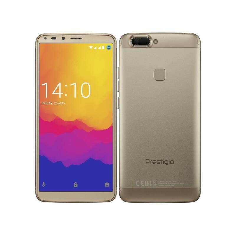 Mobilní telefon Prestigio Grace B7 Dual SIM (PSP7572DUOGOLD) zlatý
