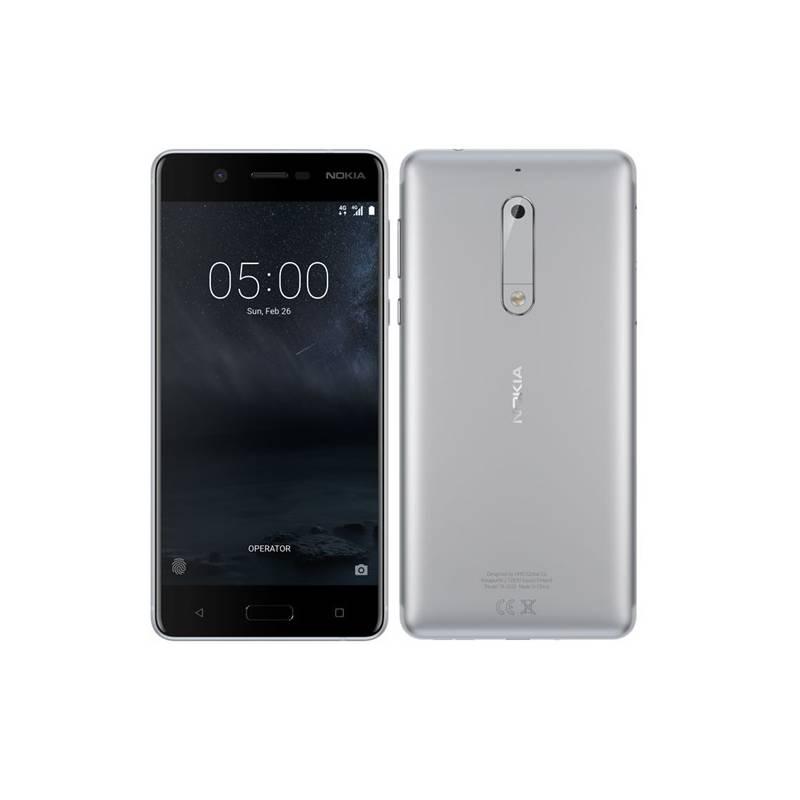 Mobilný telefón Nokia 5 Dual SIM (11ND1S01A13) strieborný + Doprava zadarmo