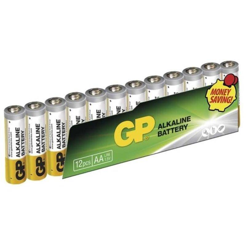 Baterie alkalická GP AA, LR06, fólie 12ks (395079)