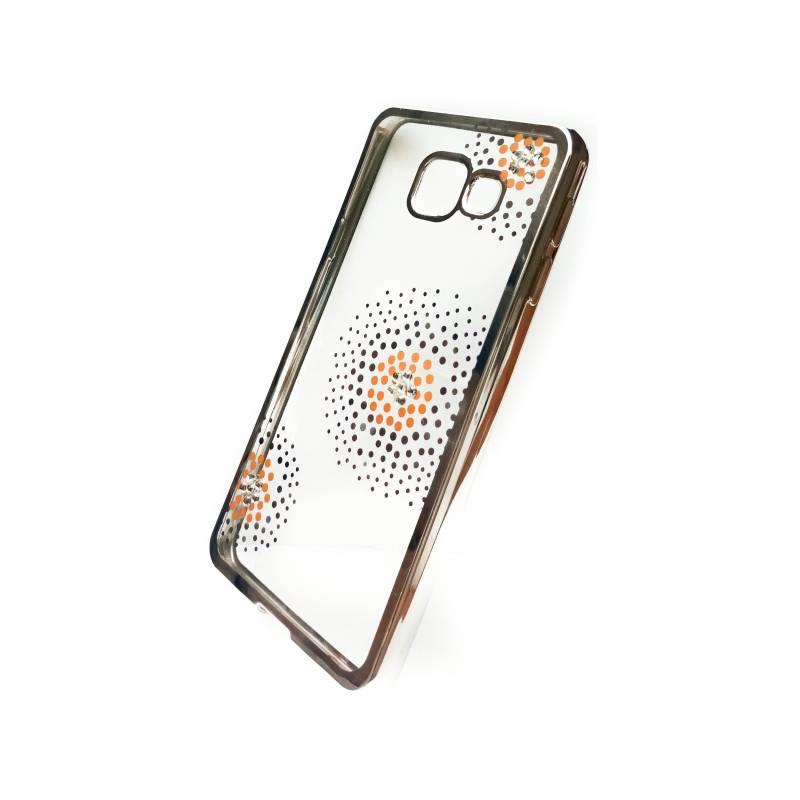 Kryt na mobil Beeyo Flower Dots pro Samsung Galaxy A3 (2016) (BEASAGAA32016TPUFLSI) strieborný
