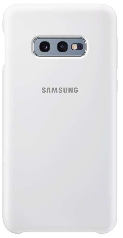 Kryt na mobil Samsung Silicon Cover pro Galaxy S10e (EF-PG970TWEGWW) biely