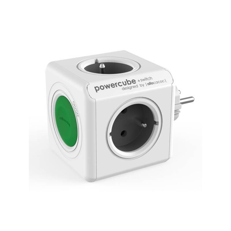 Zásuvka Powercube Original Switch, 4x zásuvka (8719186004161) sivý/biely/zelený