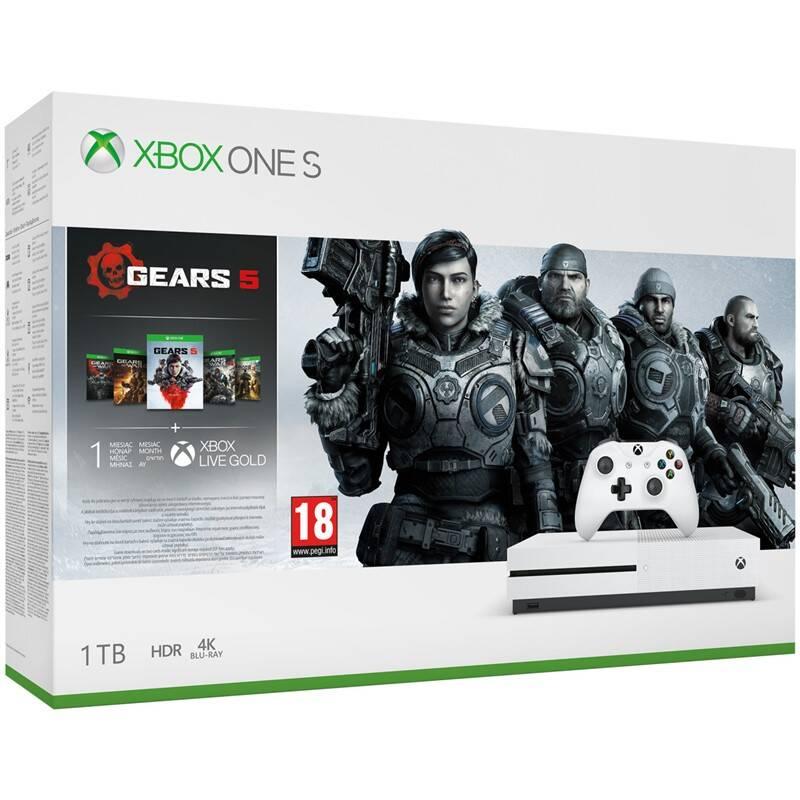 Herní konzole Microsoft Xbox One S 1 TB Gears Family Bundle (234-01029)
