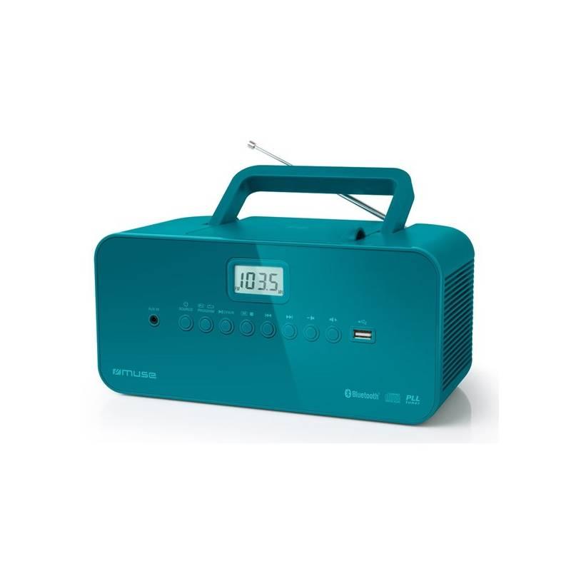 Rádioprijímač s CD MUSE M-30BTB modrý
