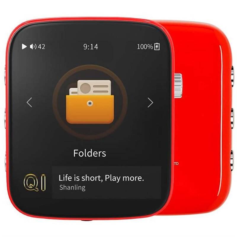 Prenosný digitálný prehrávač Shanling Q1 červený + Doprava zadarmo