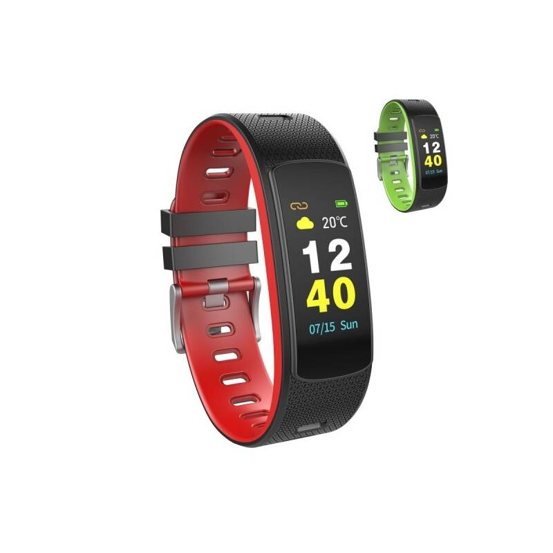 Fitness náramek Umax U-Band 116H (UB513) černý/červený/zelený