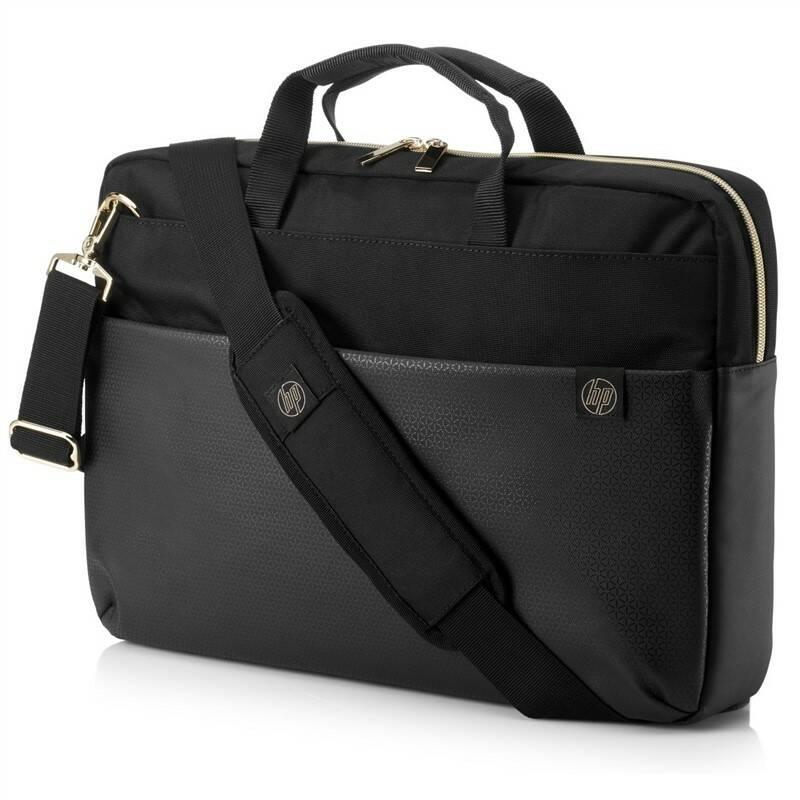 """Brašna na notebook HP Pavilion Accent Briefcase pro 15"""" (4QF94AA#ABB) černá/zlatá"""