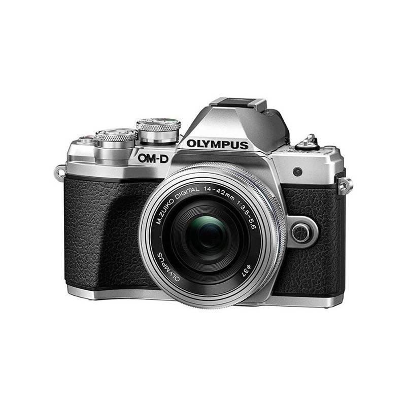 Digitálny fotoaparát Olympus E-M10 Mark III, stříbrná/stříbrná + 14-42mm (V207071SE000) + Doprava zadarmo