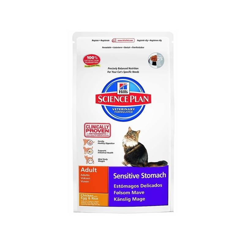 Granule Hill's Feline Adult Sensitive Stomach, 5 kg (pre mačky)