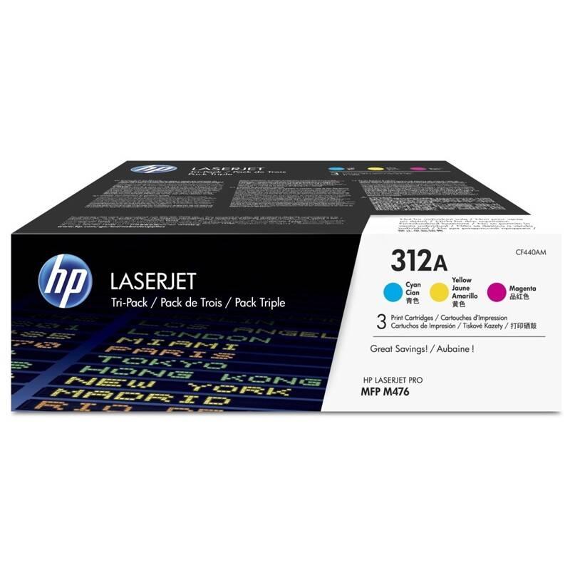 Toner HP 312A, 3x 2700 stran, 3 pack, CMY (CF440AM) + Doprava zadarmo