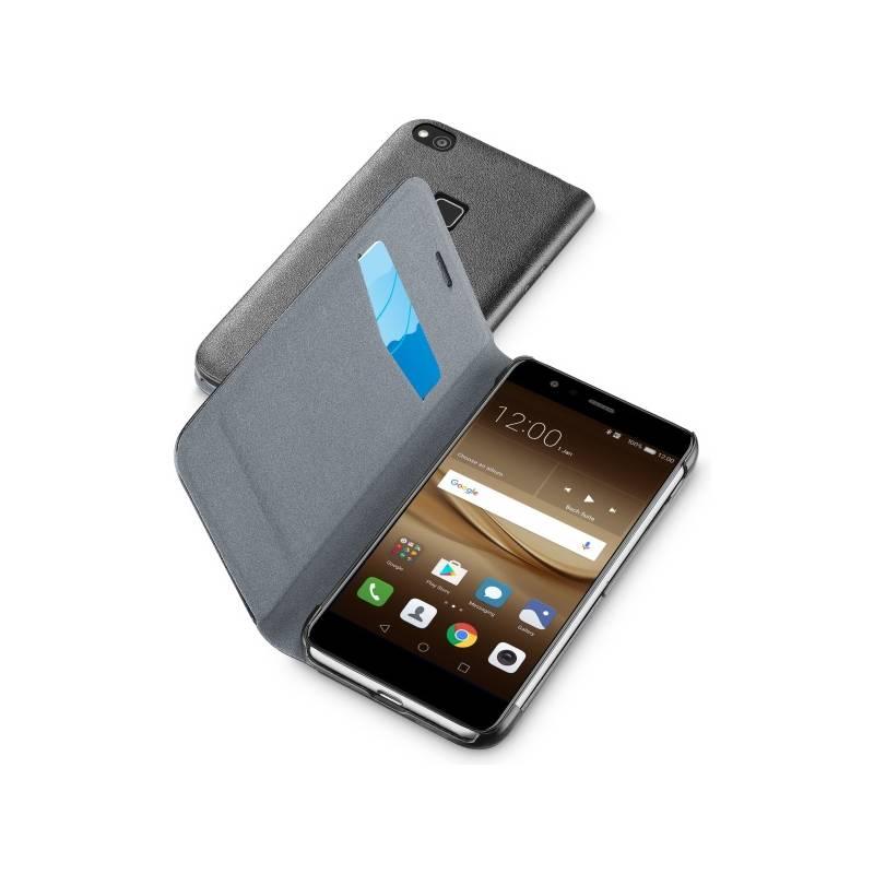 Puzdro na mobil flipové CellularLine Book Essential pro Huawei P10 Lite (BOOKESSP10LITEK) čierne