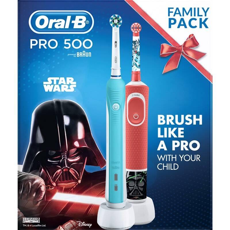 Set zubných kefiek Oral-B PRO 500 + Vitality Kids D100 Star Wars + Extra zľava 20 % + Doprava zadarmo