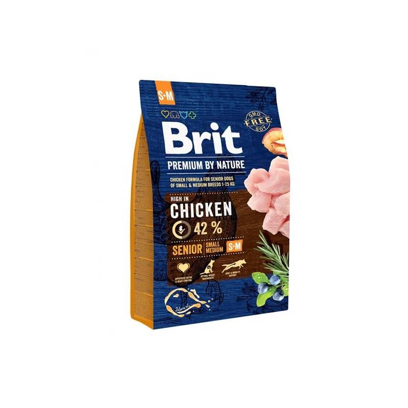 Granule Brit Premium Dog by Nature Senior S+M 3 kg