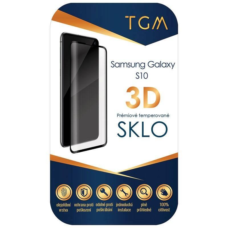 Ochranné sklo TGM 3D pro Samsung Galaxy S10 (TGM3DSGS10BK) čierne