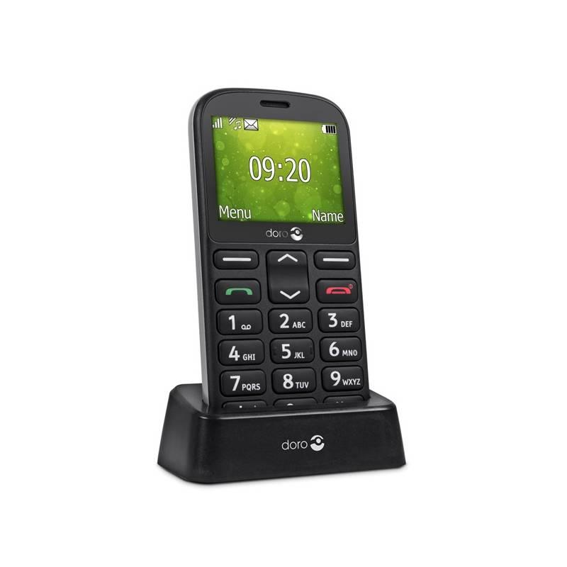 Mobilný telefón Doro 1360 Dual SIM (7392) čierny