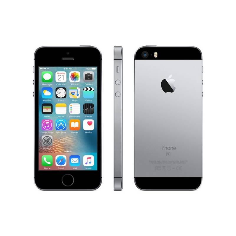 Mobilný telefón Apple iPhone SE 64 GB - Space Grey (MLM62CS/A) + Doprava zadarmo