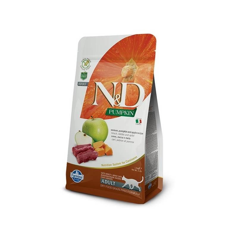 Granule N&D Grain Free Pumpkin CAT Venison & Apple 1,5 kg