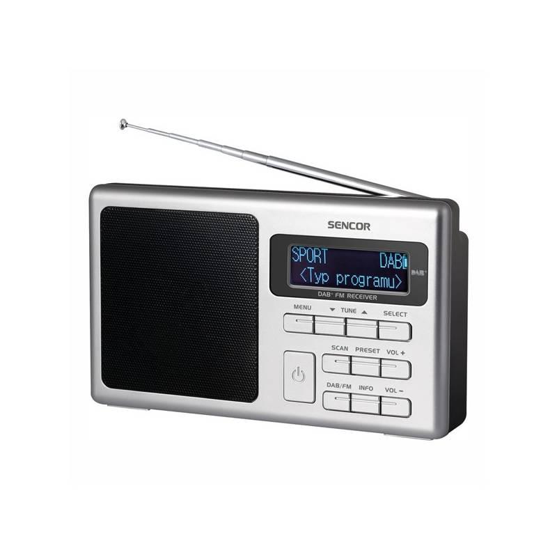 Radiopřijímač s DAB Sencor SRD 6400 (35049405) černý/stříbrný
