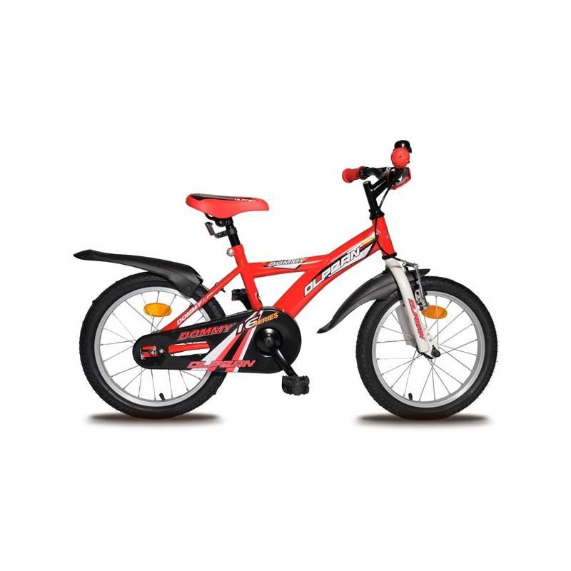 """Detský bicykel Olpran Dommy 16"""" biele/červené"""