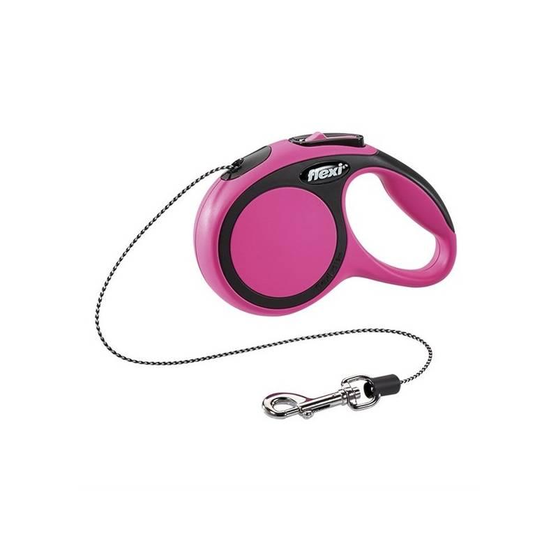 Vodítko Flexi Comfort XS Lanko 3m/8kg ružové