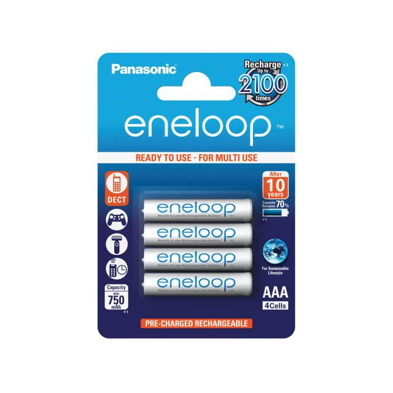 Batéria nabíjacie Panasonic Eneloop AAA, HR03, 750mAh, Ni-MH, blistr 4ks (BK-4MCCE/4BE)