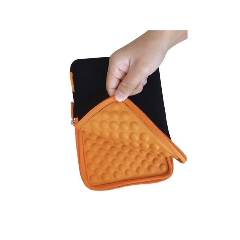 "Puzdro na tablet GoGEN neoprenové - univerzal 8"" s bublinkami (GOGTA8CASEO) čierne/oranžové"