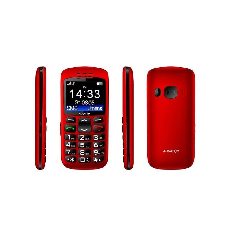 Mobilný telefón Aligator A670 Senior (A670R) červený