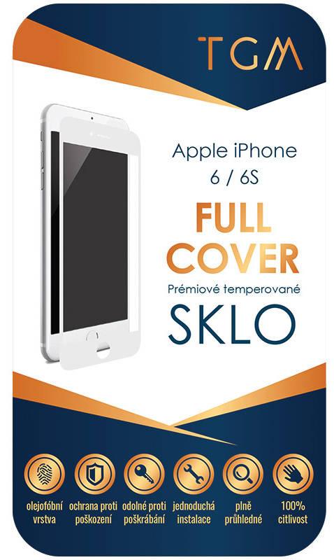 Ochranné sklo TGM Full Cover pro Apple iPhone 6/ 6S (TGMAPIP6WH) bílé