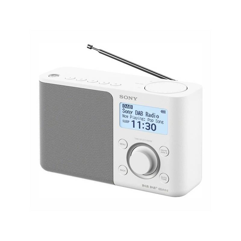 Radiopřijímač s DAB Sony XDR-S61DW bílý