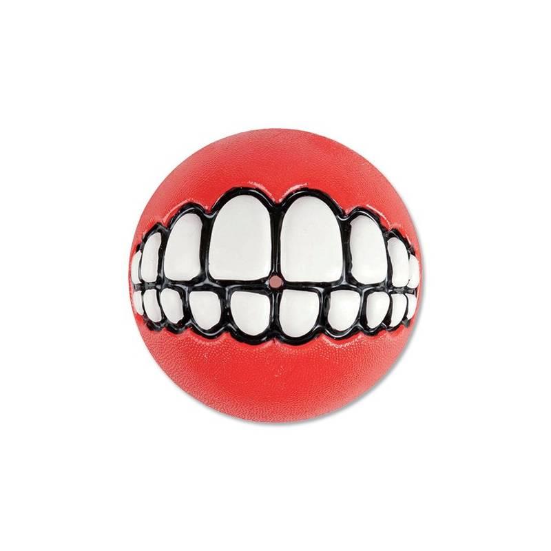 Hračka Rogz Grinz míček 7,8cm červená