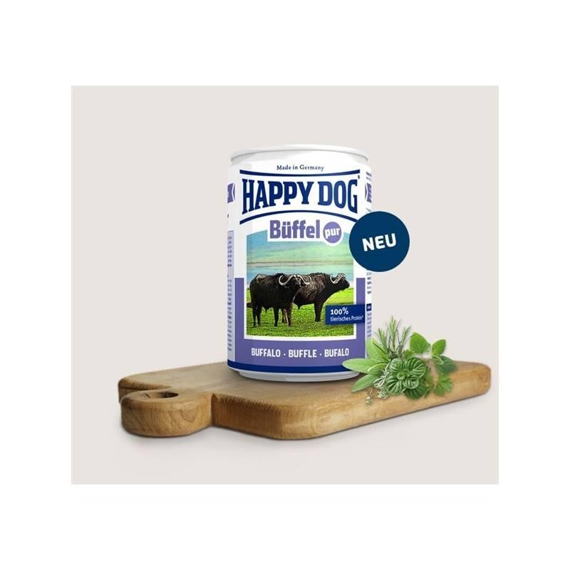 Konzerva HAPPY DOG Büffel Pur - 100% bůvolí maso 400 g