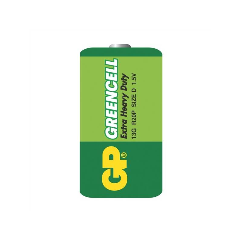 Batéria zinkochloridová GP D, R20, fólie 2ks (GP 13G)