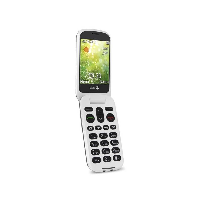 Mobilný telefón Doro 6050 Single SIM (7252) sivý/biely Software F-Secure SAFE, 3 zařízení / 6 měsíců (zdarma)