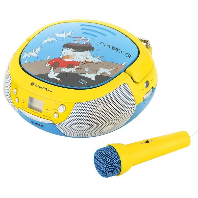 Rádioprijímač s CD GoGEN Maxipes Fík MAXIPREHRAVAC B modrý/žltý + Doprava zadarmo