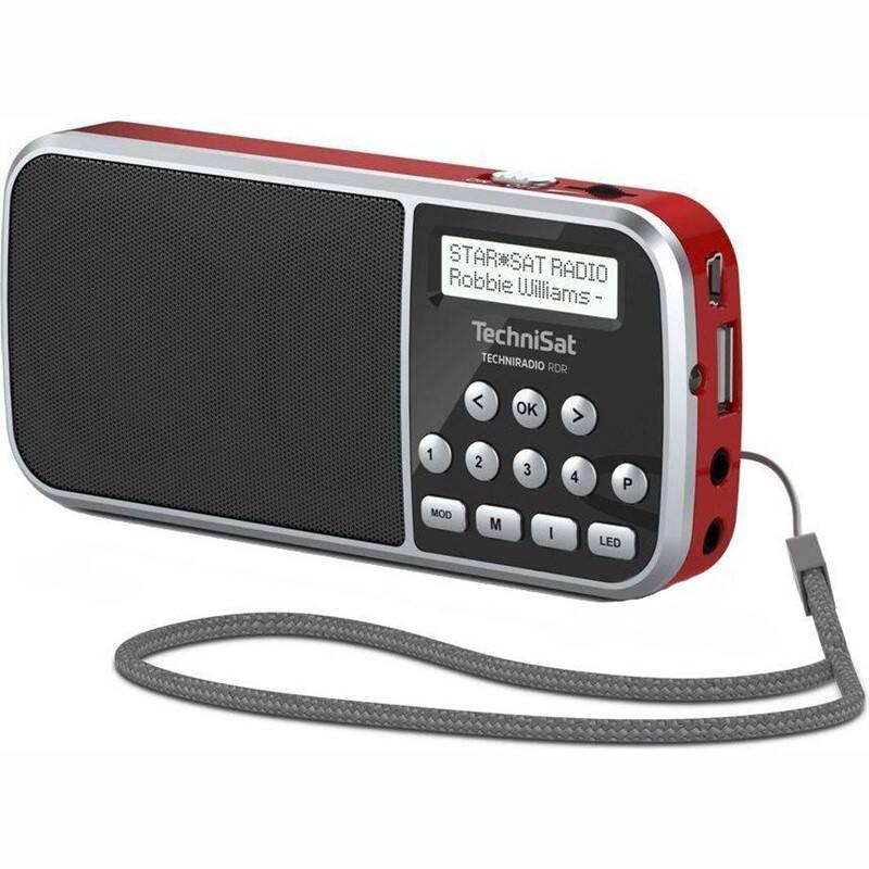 Radiopřijímač s DAB Technisat TECHNIRADIO RDR červený