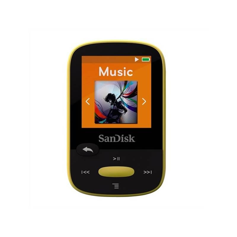 MP3 prehrávač Sandisk Sansa Clip Sports 8 GB (SDMX24-008G-G46Y) žltý