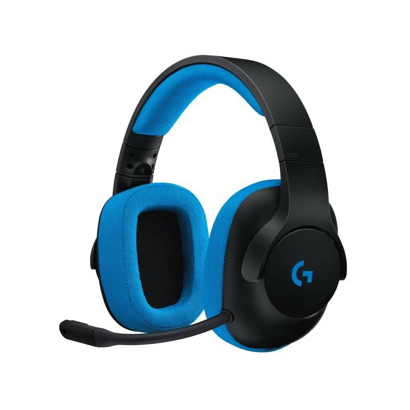 Headset Logitech Gaming G233 Prodigy (981-000703) čierny/modrý