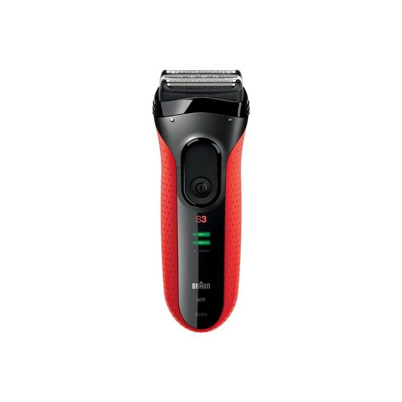 Holiaci strojček Braun Series 3 3030s čierny/červený