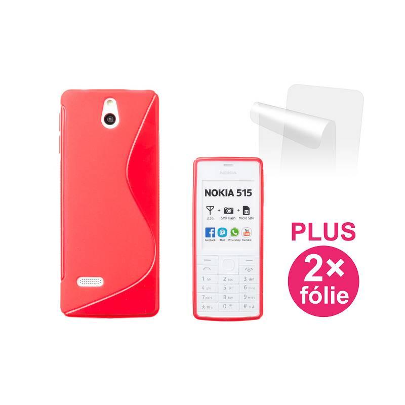 Kryt na mobil Connect IT pro Nokia 515 + 2ks ochranná fólie (CI-309) červený