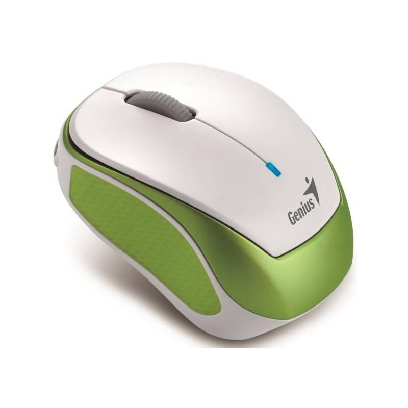 Myš Genius Micro Traveler 9000R V3 (31030132102) bílá/zelená