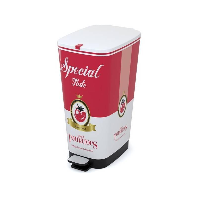Odpadkový kôš KIS Chic Bin 50 l biela farba/červená farba + Doprava zadarmo
