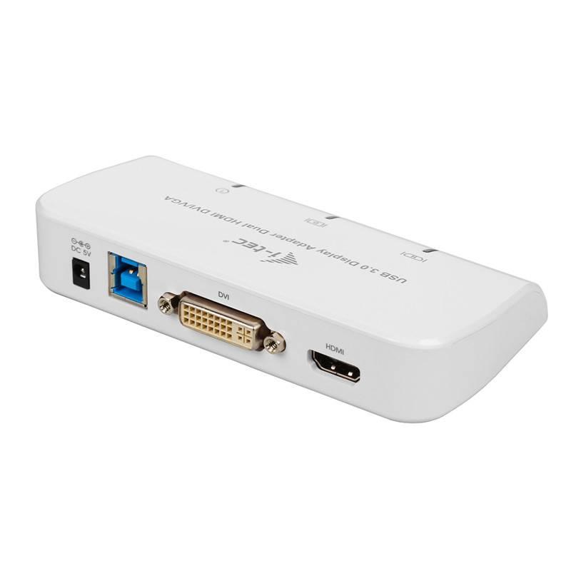 Adaptér i-tec USB 3.0/ HDMI, DVI, VGA (U3DUALADA) bílá