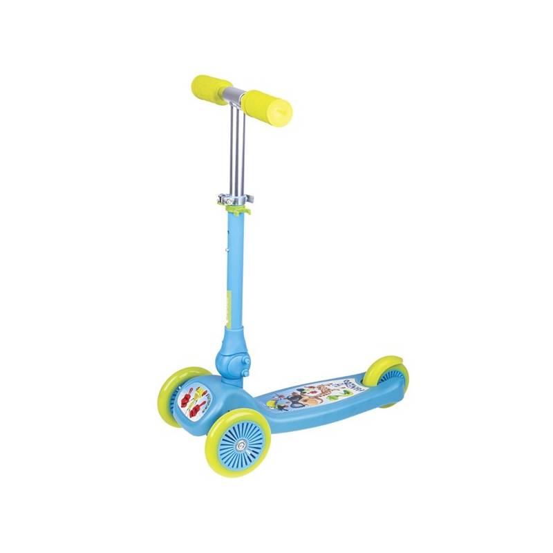 Trojkolka Spokey FUNZOO skládací dětská modrá + Reflexní sada 2 SportTeam (pásek, přívěsek, samolepky) - zelené v hodnote 2.80 € + Doprava zadarmo