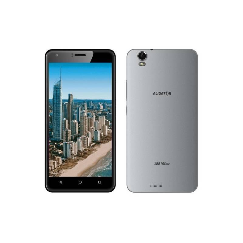 Mobilný telefón Aligator S5510 Dual SIM (AS5510GY) sivý