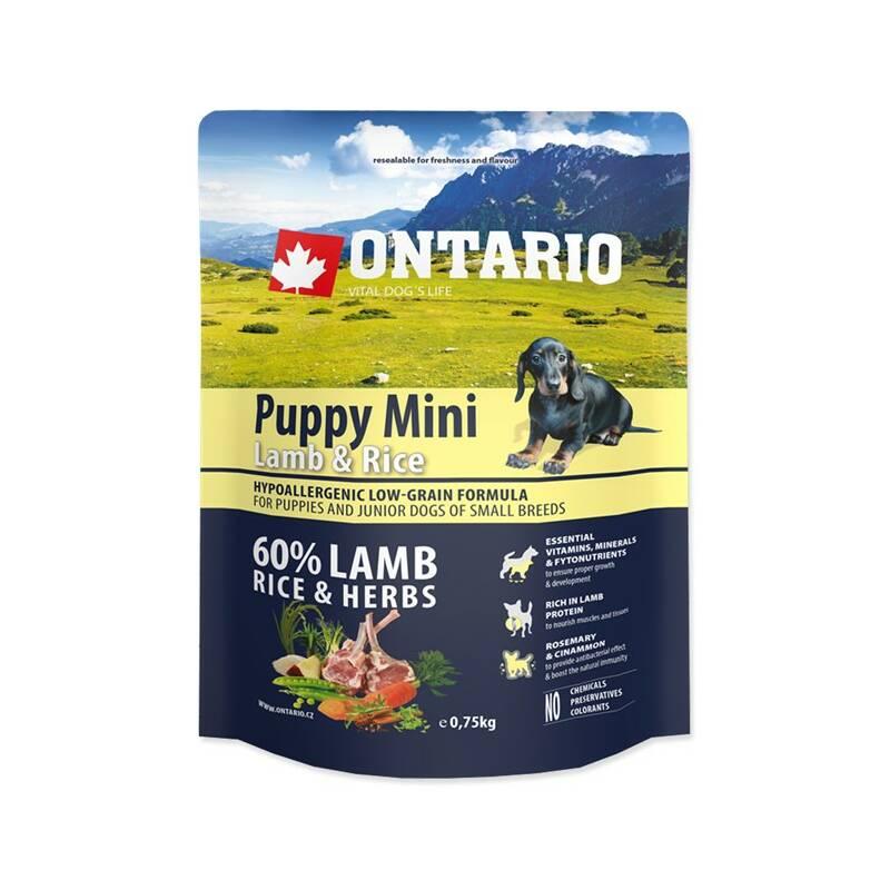 Granuly Ontario Puppy Mini Lamb & Rice 0,75kg