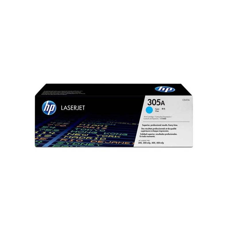 Toner HP 305A, 2600 stran (CE411A) modrý + Doprava zadarmo