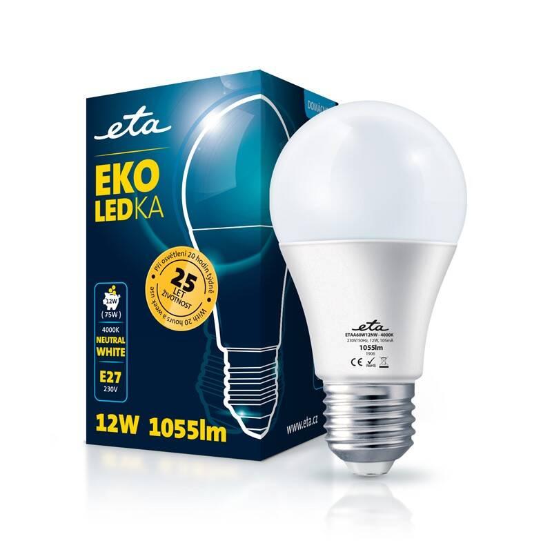 LED žiarovka ETA EKO LEDka klasik 12W, E27, neutrálna biela (A60W12NW)