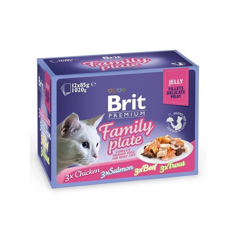 Kapsička Brit Premium Premium Cat Delicate Fillets in Jelly Dinner Plate 12 x 85g